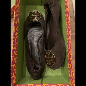Tory Burch brown suede Ballet flats